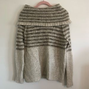 Free People Oversized Beige/Cream Sweater